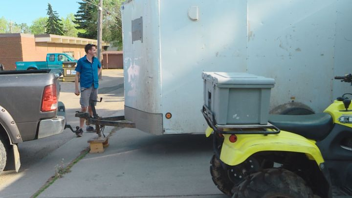 He started with a paper clip and after completing a series of trades, Kenton Zerbin was able to acquire a tool trailer he needs for his business.
