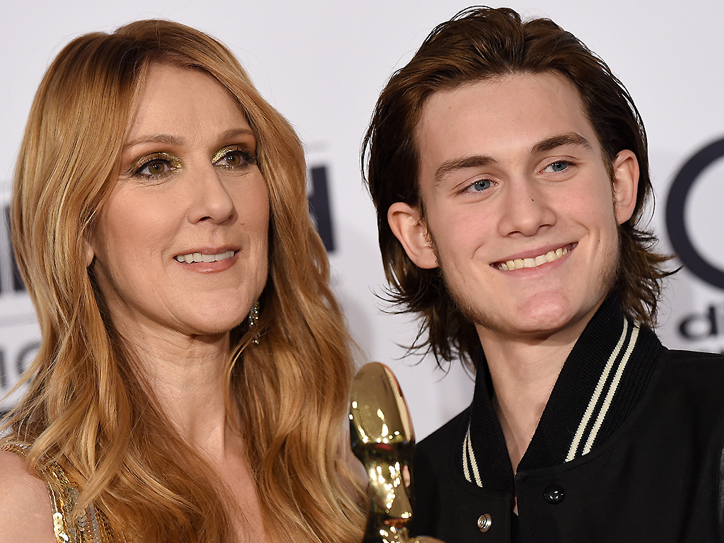 Celine Dion and son Rene-Charles Angelil pose at the 2016 Billboard Music Awards on May 22, 2016 in Las Vegas, Nevada.