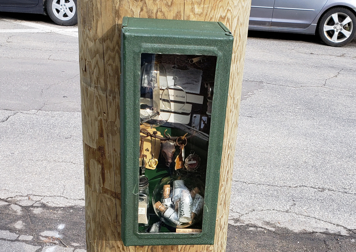 One of the 16 cabinets in Paul Roorda's 'The Time Stops Project.''.