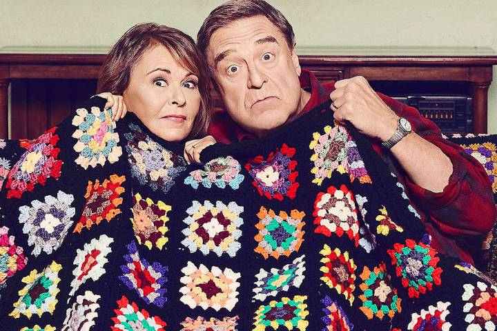 Roseanne Barr and John Goodman in a promo photo for the reboot of 'Roseanne.'.