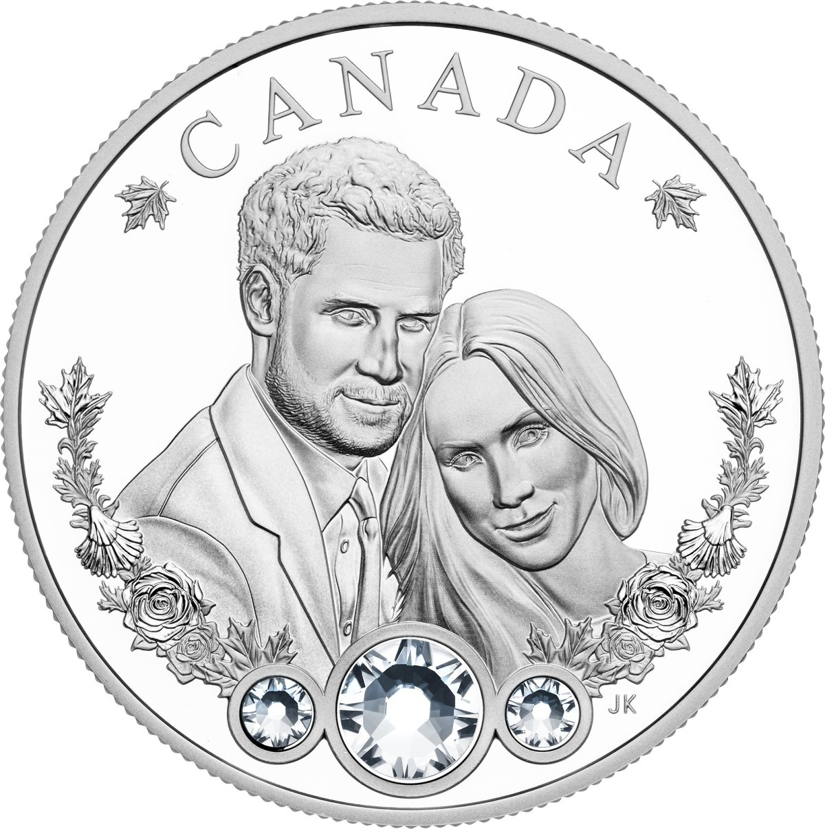 Prince Harry and Meghan Markle are immortalized on the Royal Canadian Mint coin.