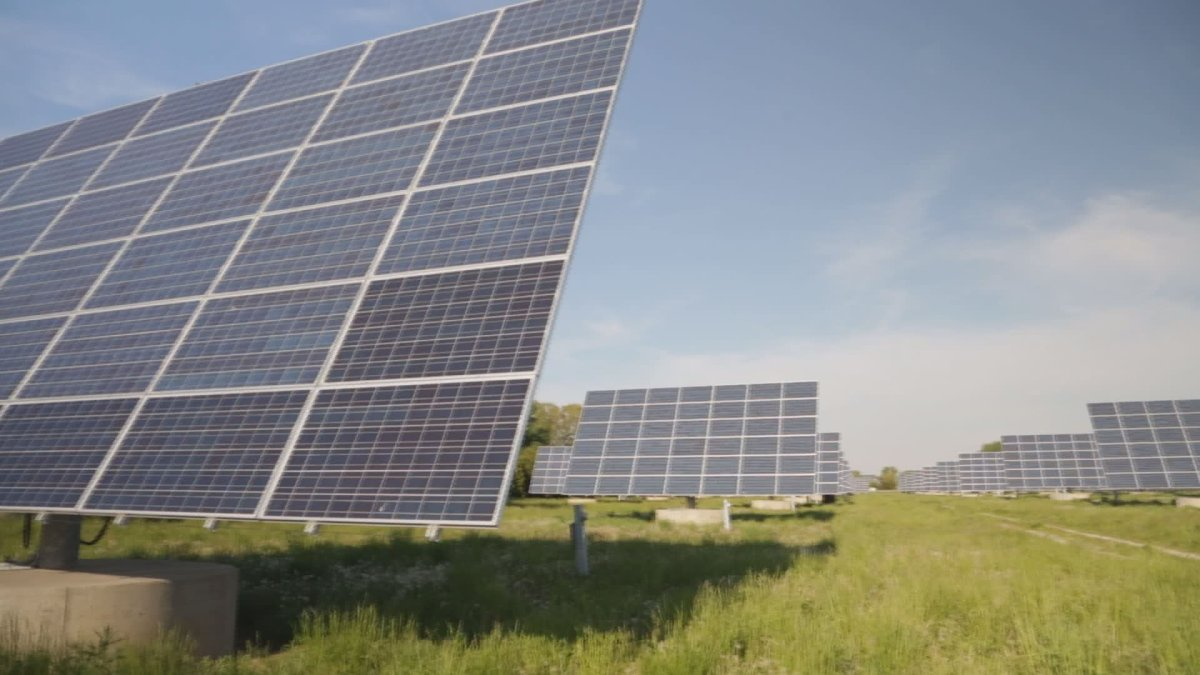 A series of solar panels approved under Ontario's Micro-FIT program.