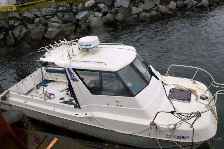 The sports fishing vessel The Catatonic is shown in a Transportation Safety Board of Canada handout photo.