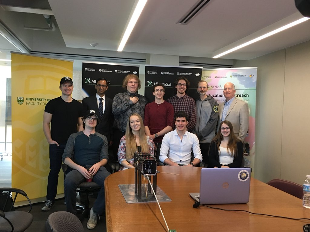 """The University of Alberta's """"space team,"""" Friday, May 4, 2018."""