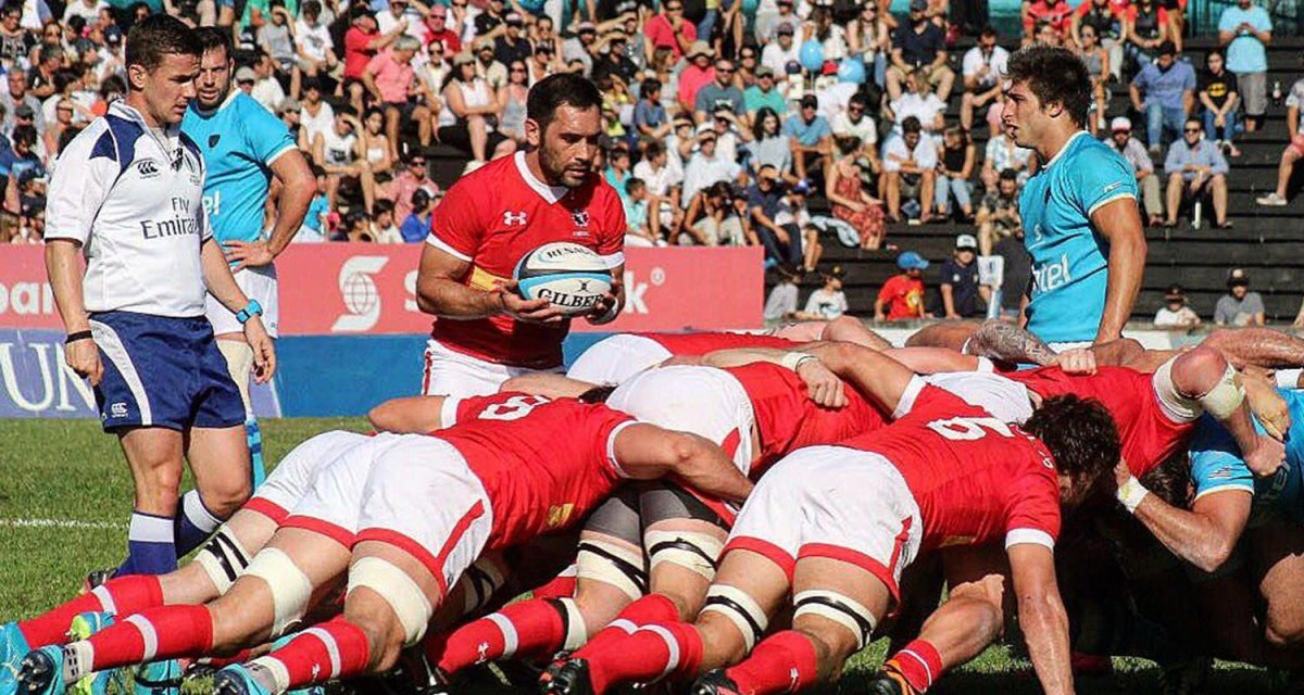 Rugby Canada mens set up for a scrum in a previous international match. Canada is set to take on Russia in Ottawa on June 16 at Twin Elm Rugby Park.