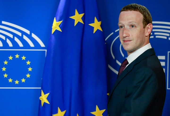 The founder and CEO of Facebook Mark Zuckerberg arrives at the European Parliament ahead of a hearing on the social media giant's data scandal in Brussels, Belgium, 22 May 2018.