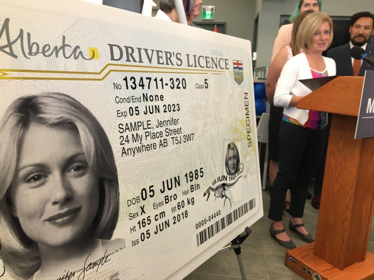 Alberta unveils new, non-gender-specific identification documents. June 8, 2018.