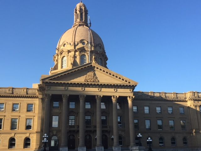 The Alberta legislature on Saturday, June 9, 2018.