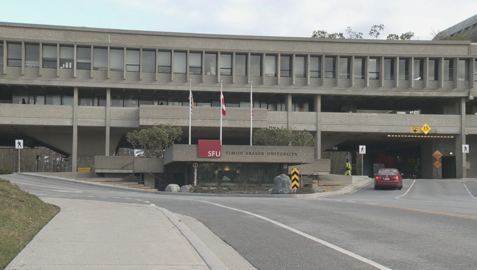 Simon Fraser University's Burnaby campus.