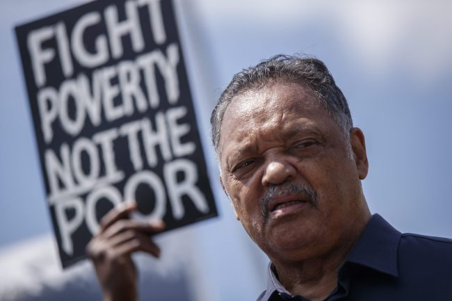Reverend Jesse Jackson delivers remarks at the Poor People's Campaign, A National Call for Moral Revival protest on the grounds of the US Capitol in Washington, DC, USA, 21 May 2018.