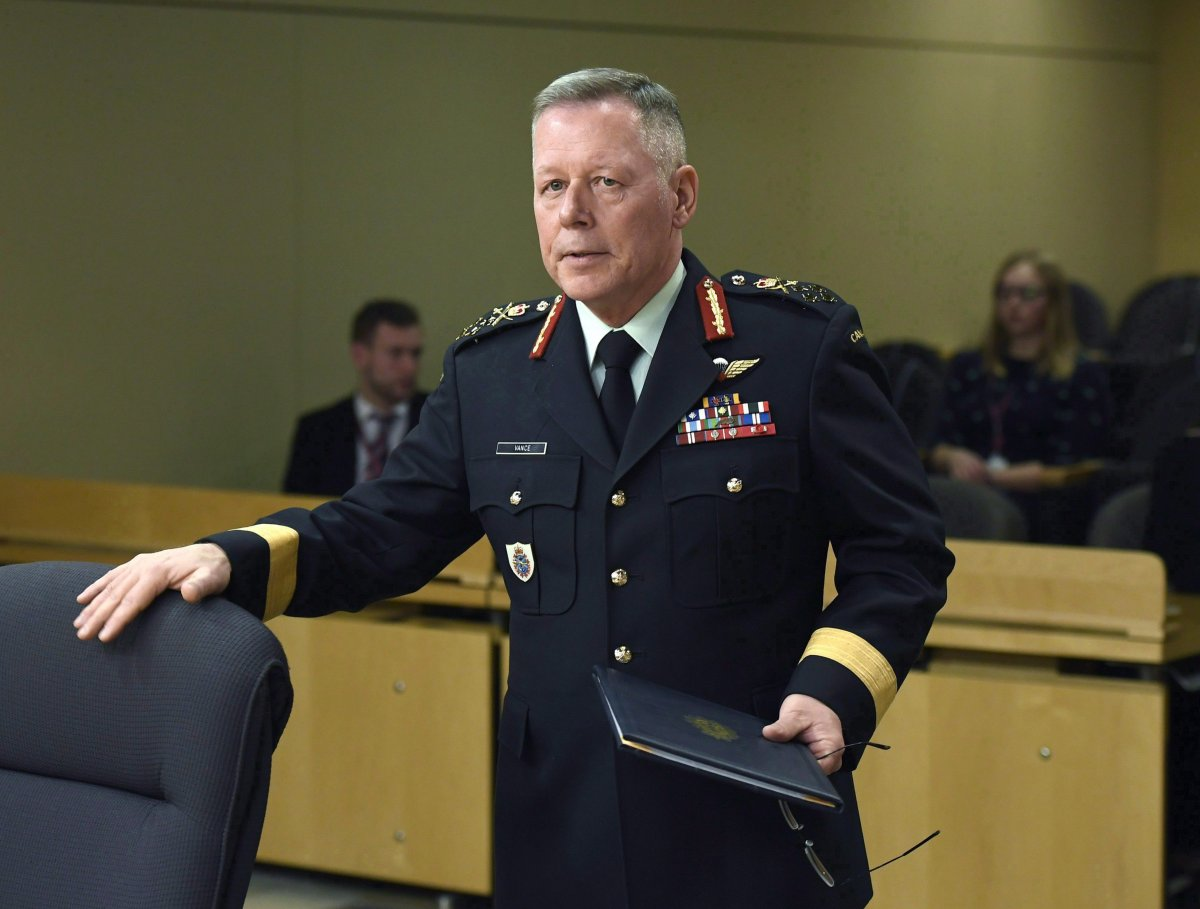 Chief of the Defence Staff Jonathan Vance says Canada is waiting for the Iraqi government to give the thumbs up before the Canadian Forces launches the next phase of its mission against the Islamic State of Iraq and the Levant.