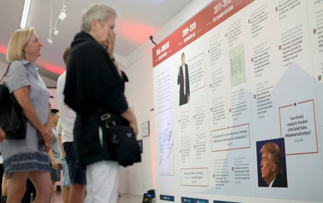 Exhibition Showcasing Donald Trump S Tweets Opens In California National Globalnews Ca