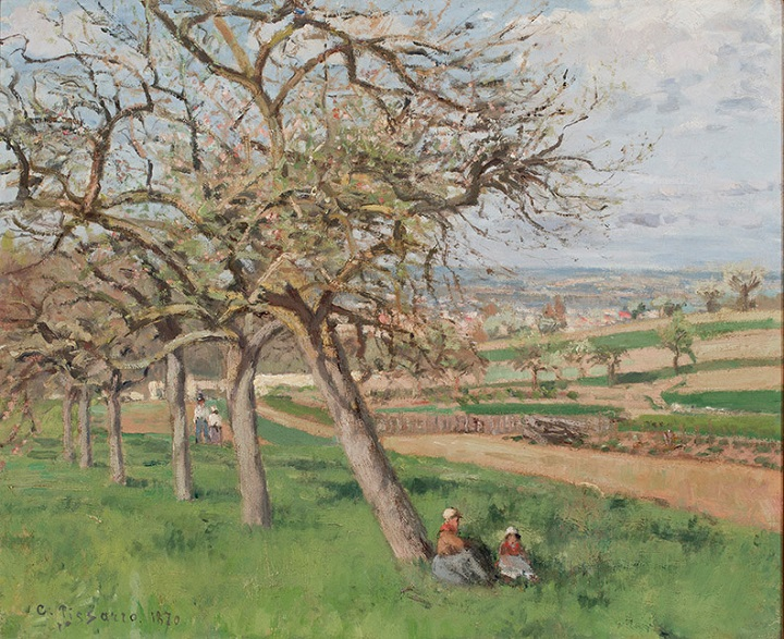 This painting by Camille Pissarro (France, 1830–1903), titled Pommiers en fleurs/Apple Trees, was created in 1870. It will be one of the many pieces on display at the Kelowna Art Gallery's next exhibition, 'A Cultivating Journey.'.
