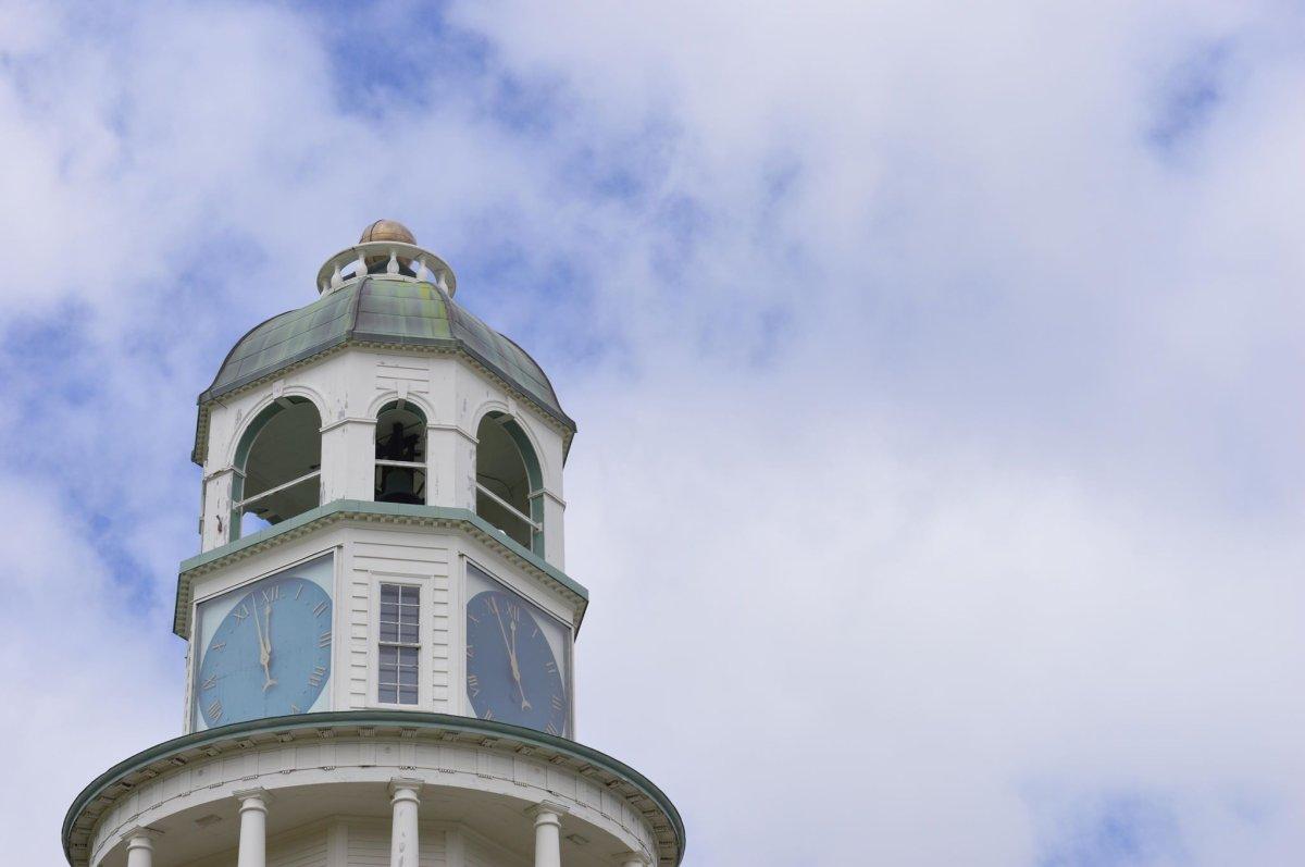 Halifax town clock on June 1, 2016.