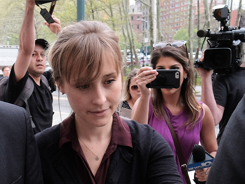 Allison Mack arrives at the United States Eastern District Court for a bail hearing on May 4, 2018 in Brooklyn, NY.