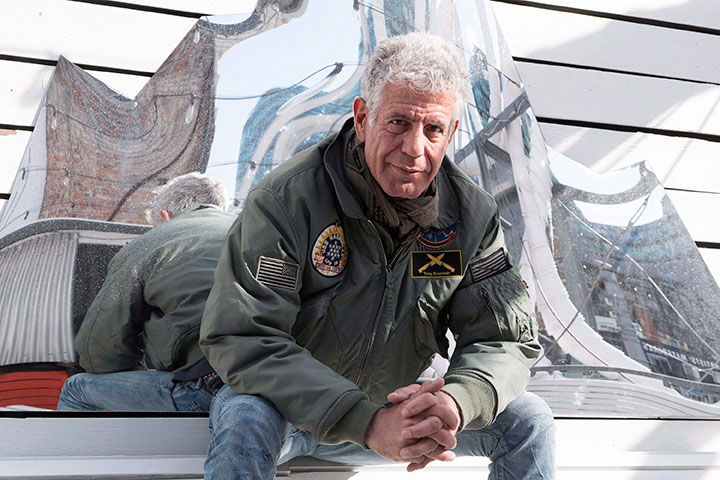 Anthony Bourdain poses for a photo in Toronto on Monday, October 31, 2016.