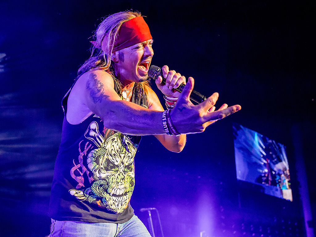 Bret Michaels of Poison performs during the Nothin' But a Good Time Tour 2018 at DTE Energy Music Theater on June 8, 2018, in Clarkston, Mich.