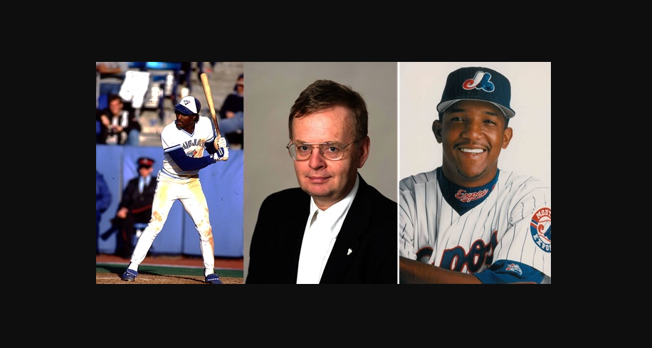 From left to right: Lloyd Moseby, William Humber, Pedro Martinez.