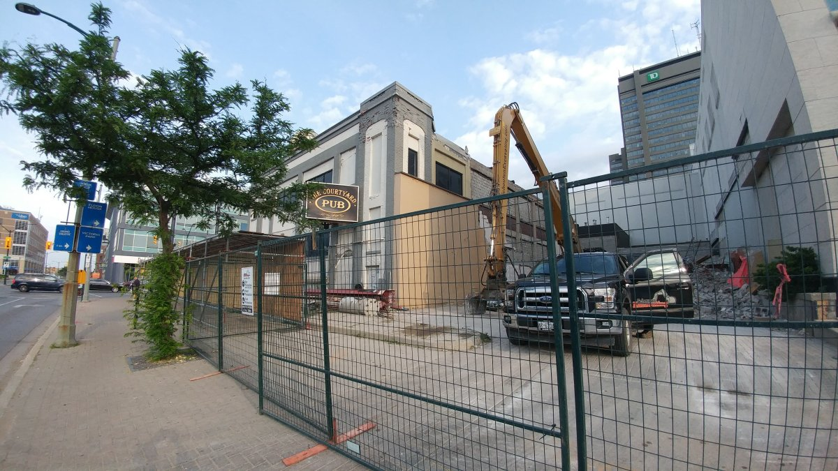 Construction is taking place at the corner of Wellington Street and York Street as the London Convention Center looks to expand.