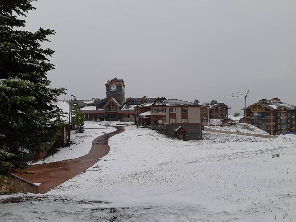 Snow has hit Okanagan ski resorts.