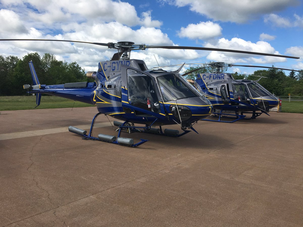 Nova Scotia showed off its new fleet of upgraded helicopters it says will be used to fight wildfires and complete search and rescue missions.