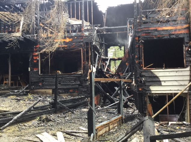 The aftermath of the fire in North Vancouver. Photo provided by North Vancouver RCMP.