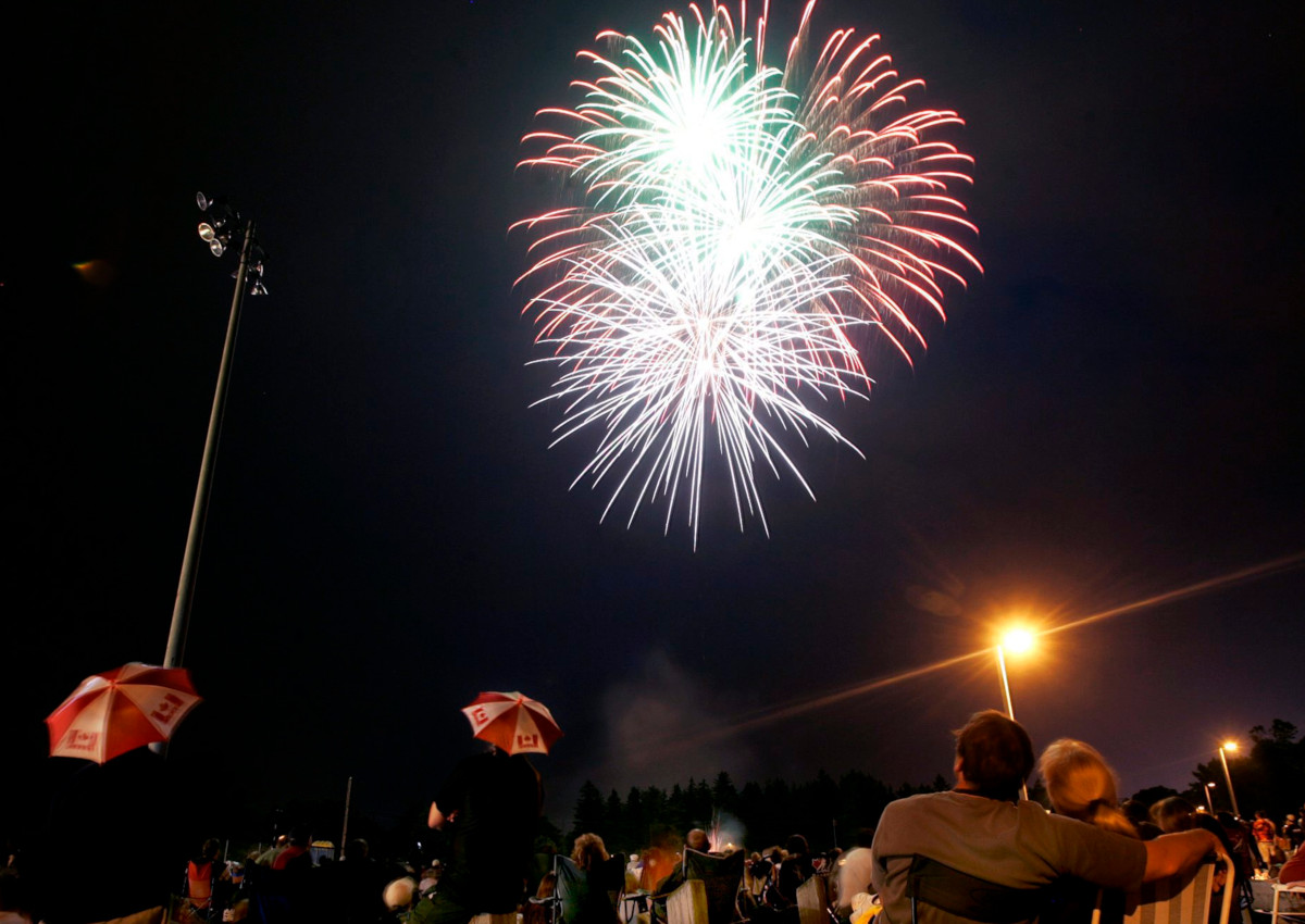 Thousands of people gathered to watch the Canada Day Fireworks on Saturday, July 1, 2006, in Cambridge, Ont.
