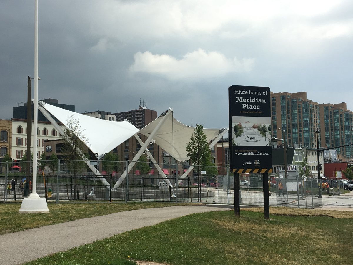 Memorial Square and Meridian Place are set to officially open to the public June 29.