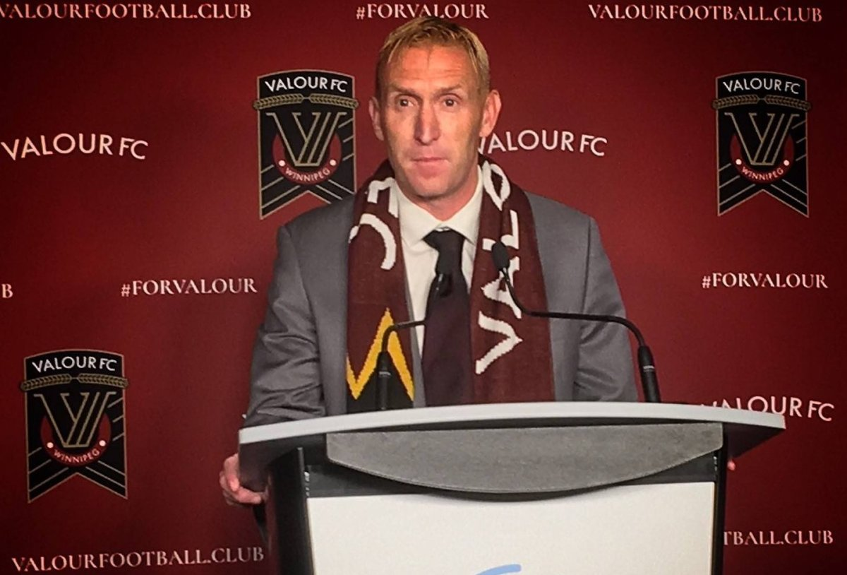 Winnipeg U20 soccer coach Rob Gale was been named as the head coach of the city's new professional soccer team Valour FC.