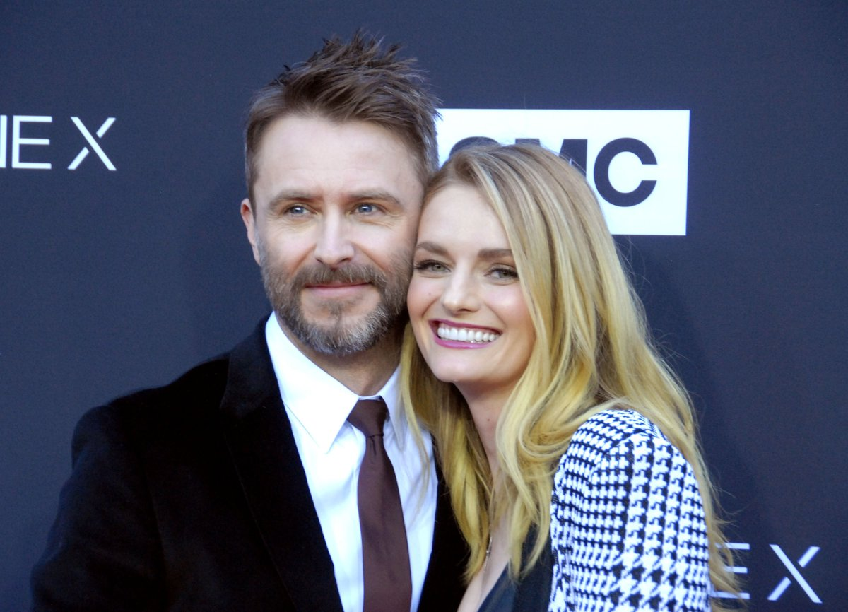 (L-R) TV personality/host Chris Hardwick and model/actress Lydia Hearst attend AMC Celebrates The 100th Episode of 'The Walking Dead' at The Greek Theatre on Oct. 22, 2017, in Los Angeles, Calif.