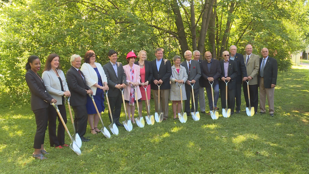 West Island Palliative Care Residence had a groundbreaking ceremony today for their new expansion. June 15, 2018.