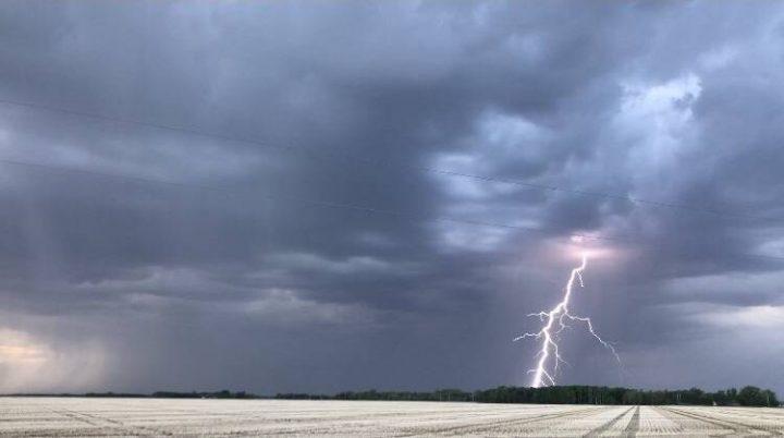 Thunderstorms over Oakbank, Manitoba.