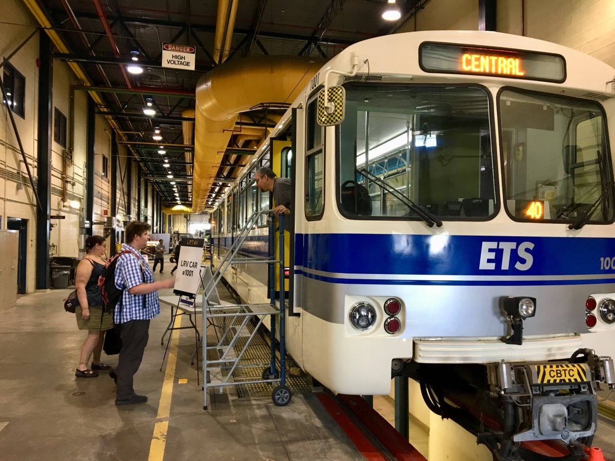 The Edmonton Transit Service opened its D.L. MacDonald Garage on Saturday to celebrate 40 years of LRT service.