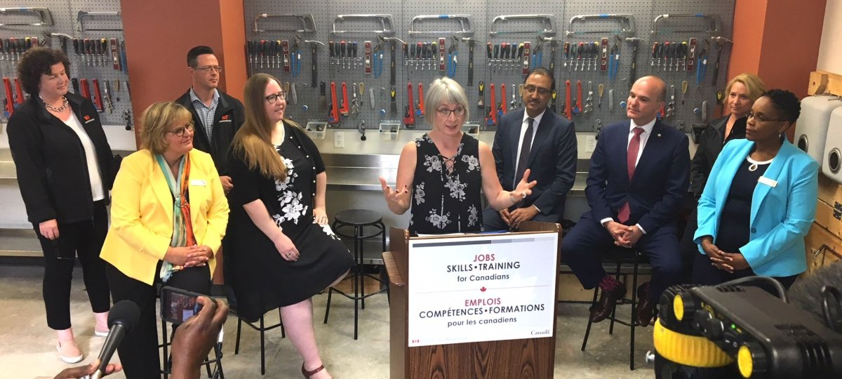 The federal government announces $500 million in additional funding for job training in Alberta, Wednesday, June 27, 2018.