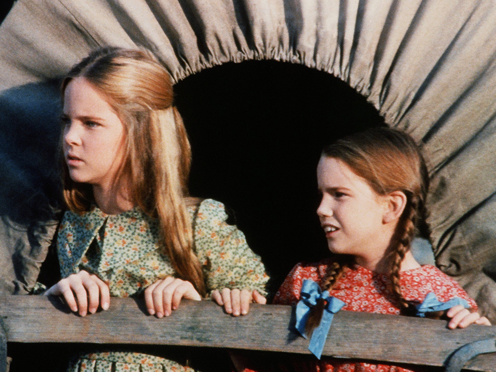 Melisssa Sue Anderson and Melissa Gilbert star in the pilot of 'Little House on the Prairie' in 1974.