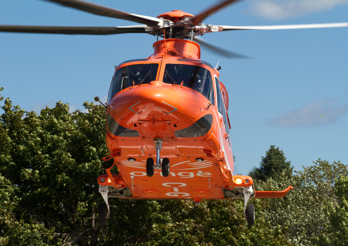The County of Simcoe Paramedic Services was on the scene treating the man before he was transported by Ornge air ambulance to a Toronto area hospital, where he remains in critical condition, police say.