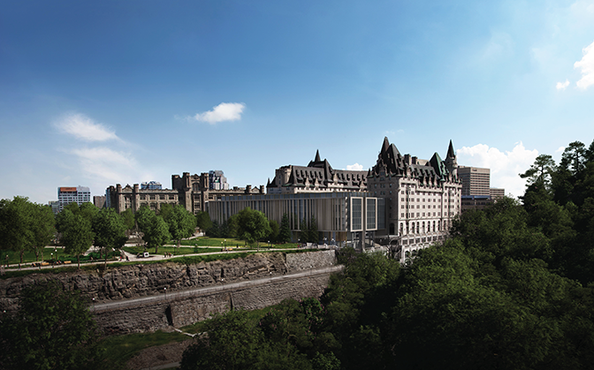 City staff have recommended that the city approve the planning application for the new addition to the Château Laurier.