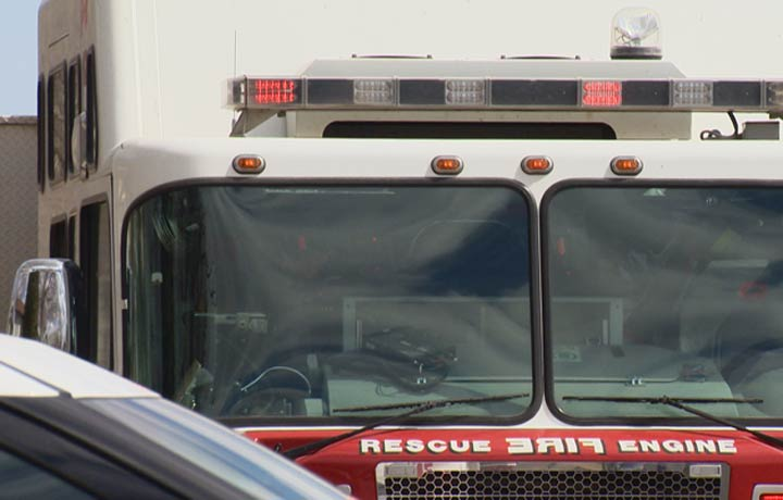 The Saskatoon Fire Department said the fire, across from City Hospital, was intentionally set.