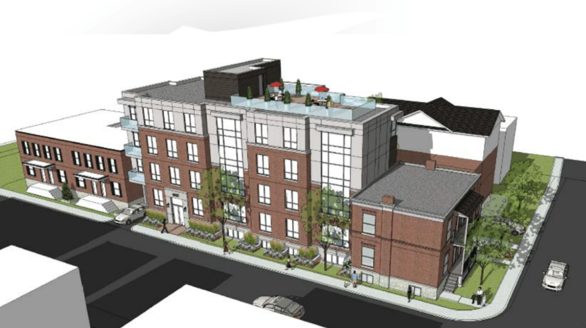 A proposed apartment building on Kent Street in downtown Ottawa will now be built further back from the sidewalk, after the Centretown Citizens Community Association and the developer worked together to reach an agreement on the length of the setback.
