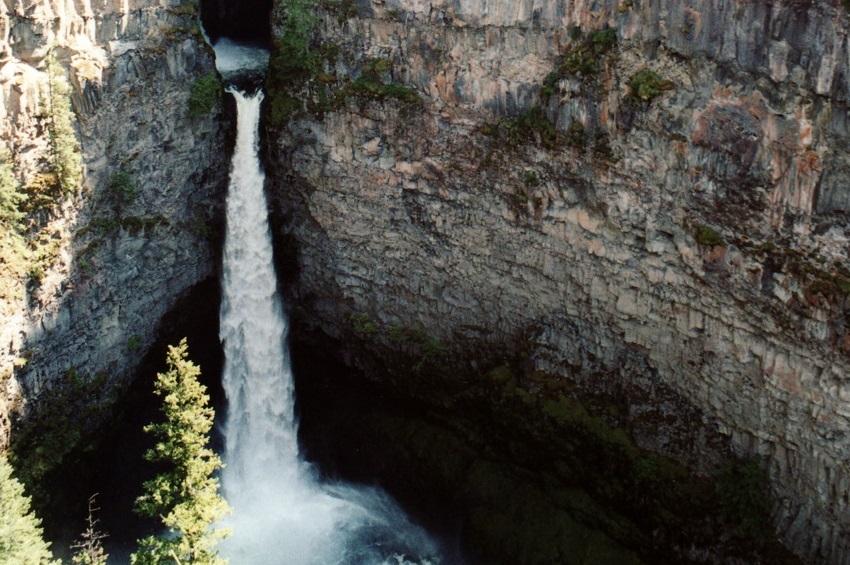 Spahats Creek Falls in Wells Gray Provincial Park.