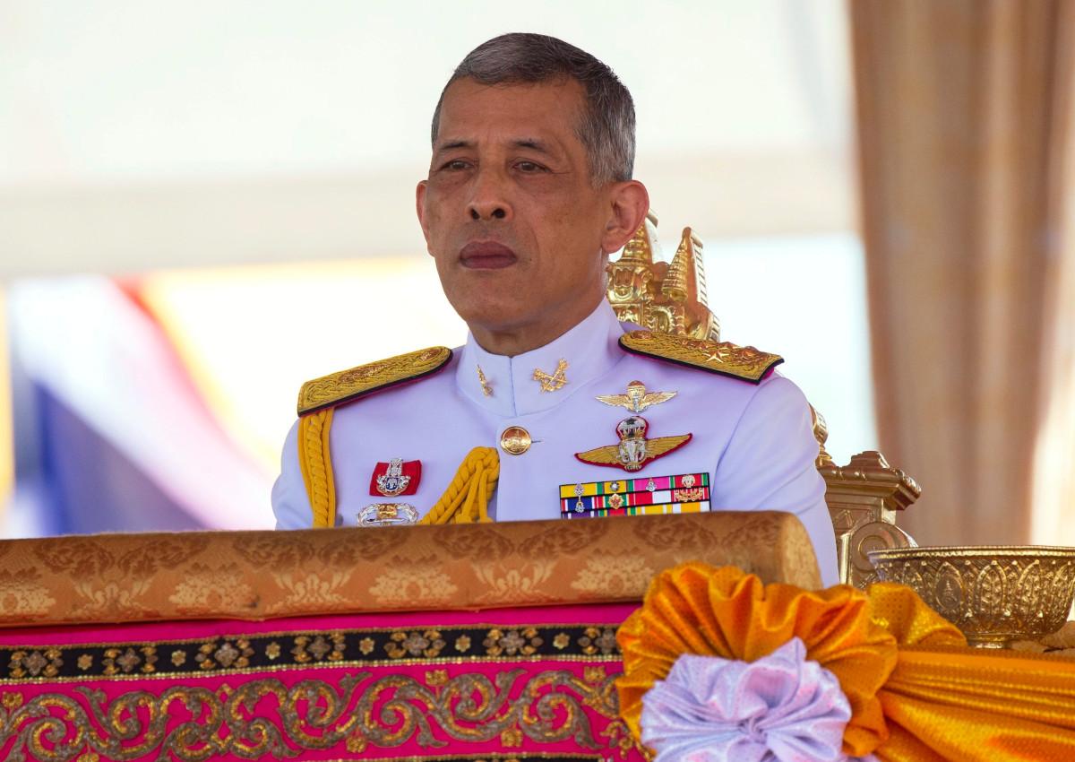 Thai King Maha Vajiralongkorn presides over the Royal Ploughing Ceremony at Sanam Luang in Bangkok, Thailand, 14 May 2018.