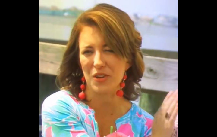 An image of Nicole McGuinness from an episode of the television show Beachfront Bargain Hunt that Dr. Erich Voigt posted on his Facebook page.