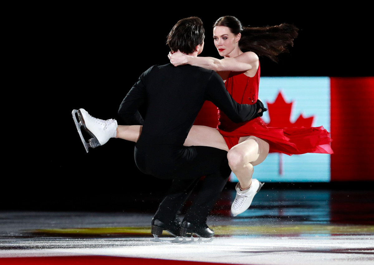 Tessa Virtue and Scott Moir of Canada perform during the Figure Skating Gala Exhibition at the Gangneung Ice Arena during the PyeongChang 2018 Olympic Games, South Korea.
