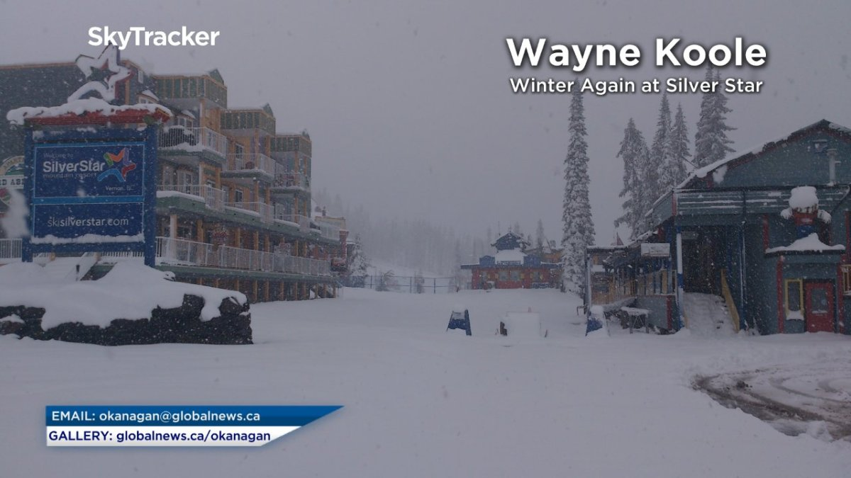 Winter returned to Silver Star with a foot of snow falling over the weekend.