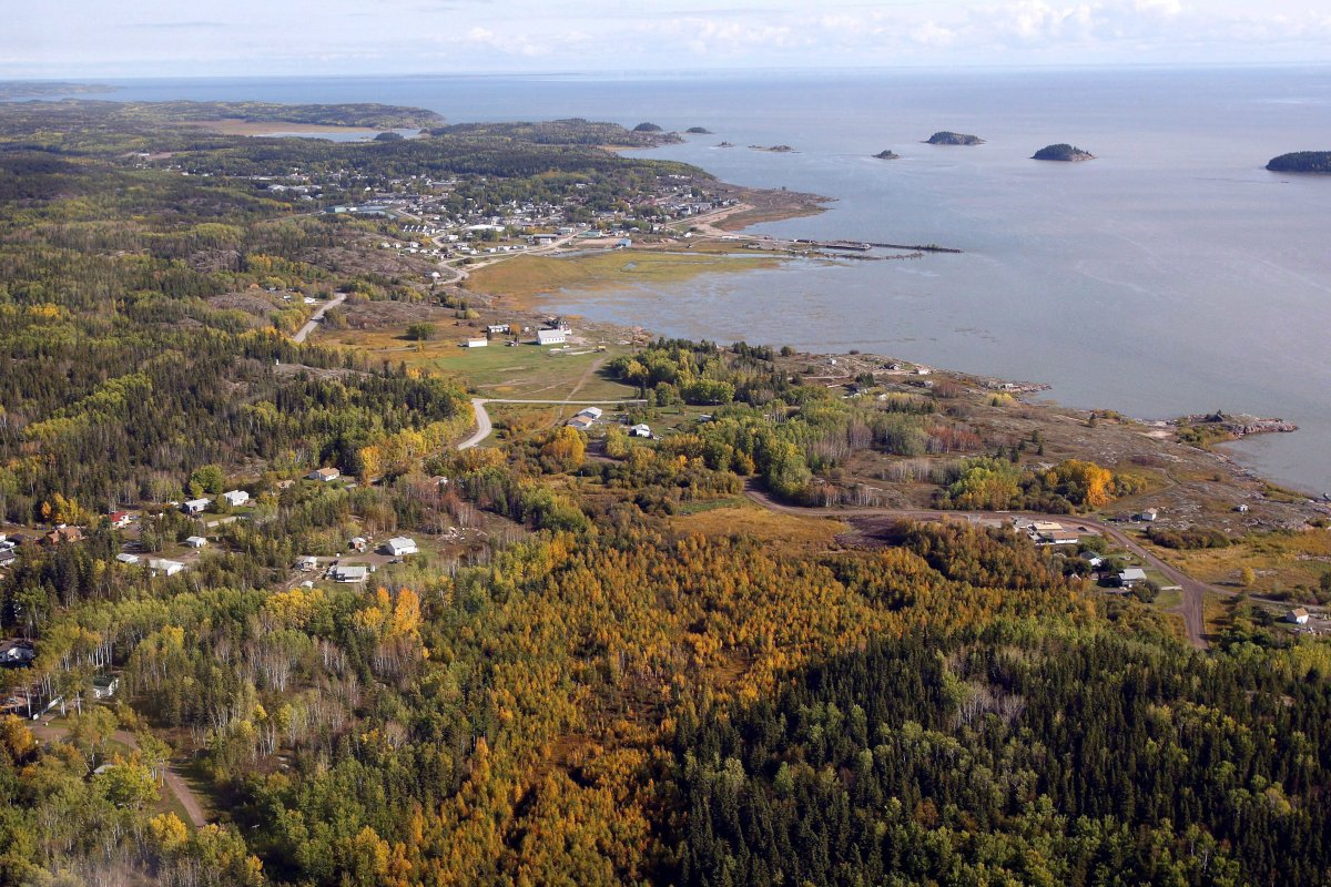 An aerial view of Fort Chipewyan, Alta., on the border of Wood Buffalo National Park is shown on Monday, Sept. 19, 2011.