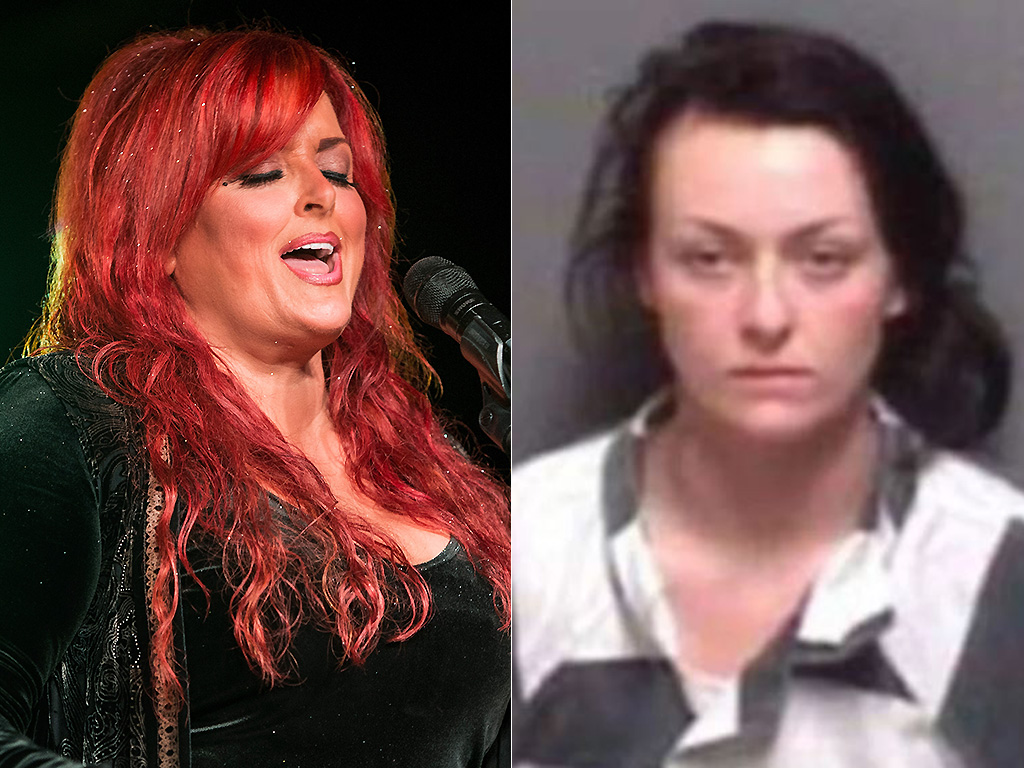 Wynonna Judd performs in 2016, and her daughter Grace is pictured in her mugshot.