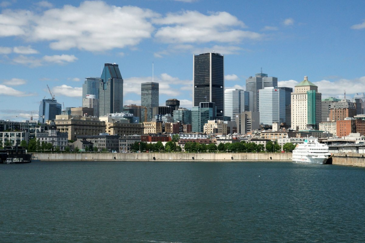 View of Montreal's skyline.