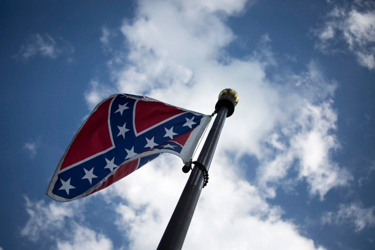 The Confederate flag at the South Carolina State House Building in Columbia, South Carolina, USA, June 20, 2015.