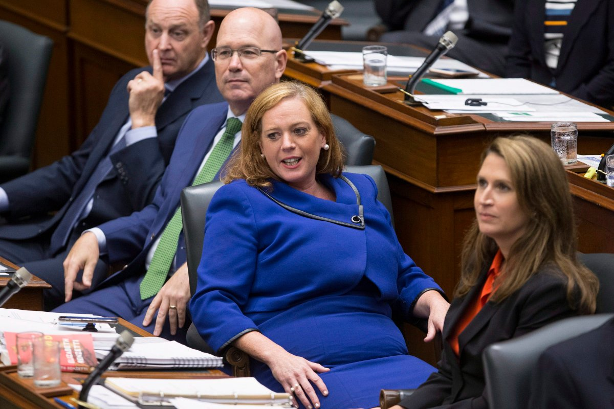 Ontario's Children, Community and Social Services Minister Lisa Macleod attends Question Period at Queen's Park, in Toronto on Tuesday, July 31, 2018.