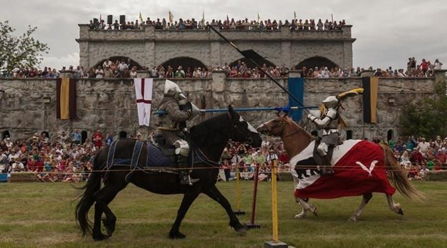 Jousting at the Cooks Creek Medieval Festival.